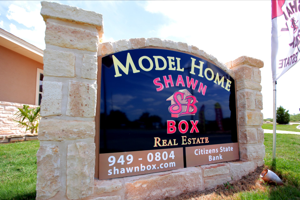 model home sign shawn box real estate sovereign media